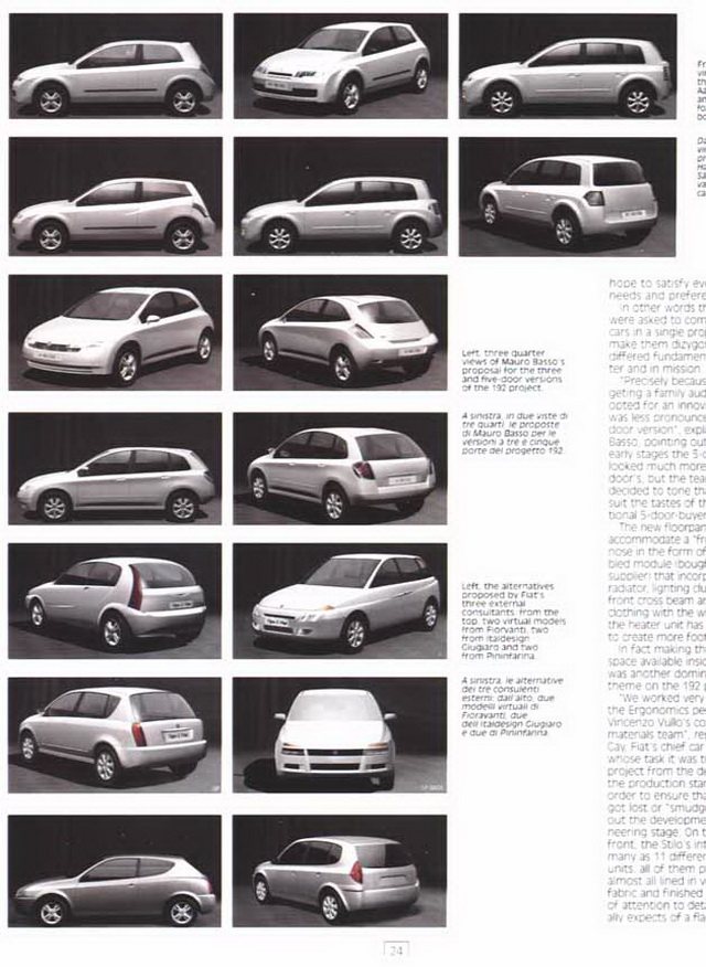 FIAT Stilo Prototypes