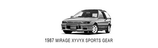 Mitsubishi Mirage XYVYX Sports Gear Concept (1987)